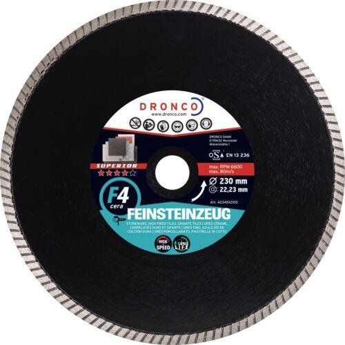 Diamant Trennscheibe Ø180x2x25,4mm DRONCO superior F4 cera Feinsteinzeug