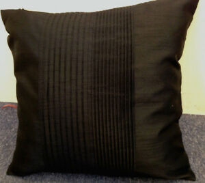 Black-Pleated-Panel-Faux-Silk-Evans-Lichfield-Cushion-Cover