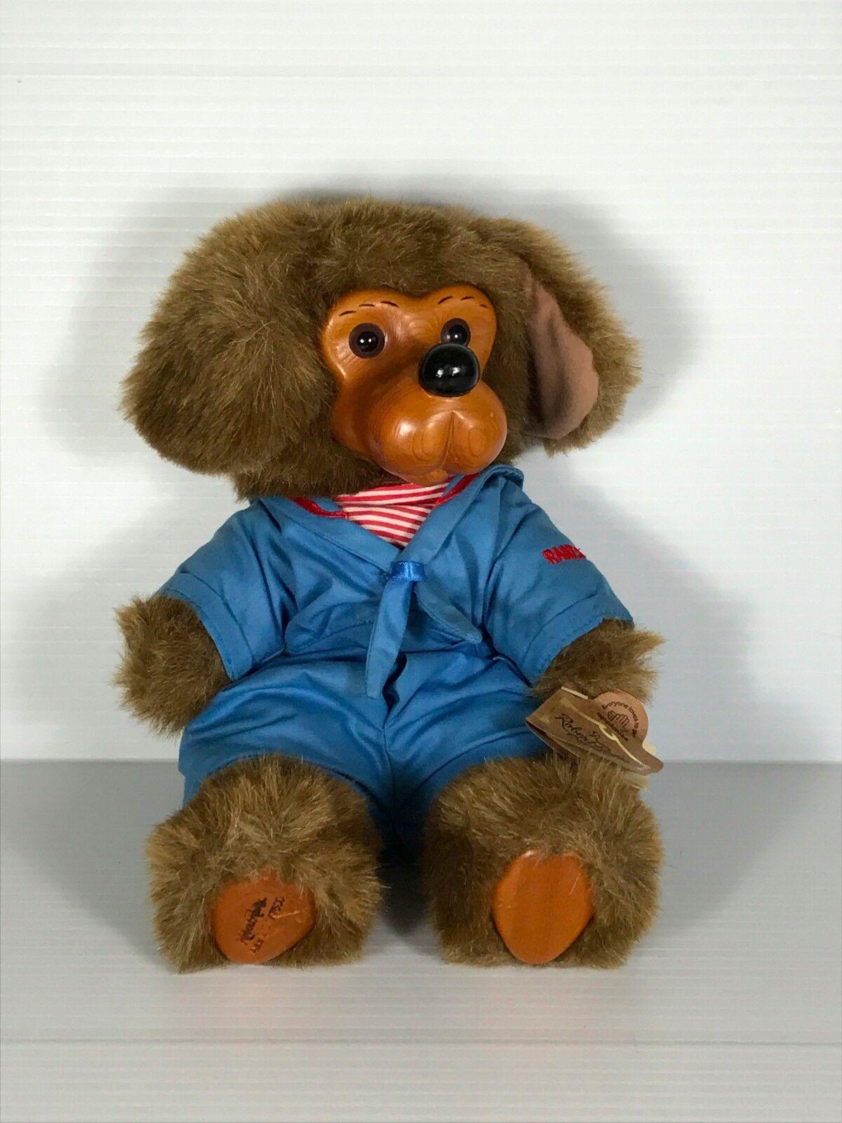 ROBERT RAIKES ORIGINAL BEAR, carved wood bear, Applause bear, sailor bear, NWT