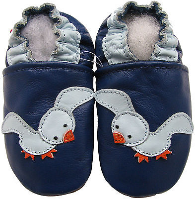 carozoo red nose reindeer 12-18m soft sole leather baby shoes