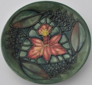 Attractive-Moorcroft-Pottery-Rainforest-Dish-Tray-Designed-By-Sally-Tuffin
