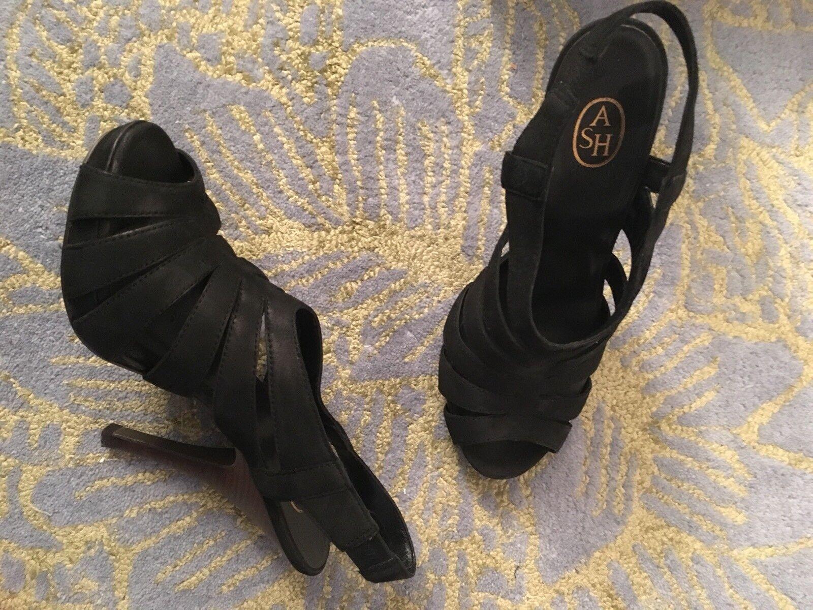 Ash Leder Sandaletten Leder Ash Schwarz 39 High Heels 1545fd