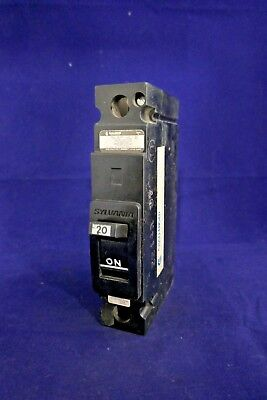 WARRANTY 1 Pole 20 Amp 277 Volt Circuit Breaker Sylvania SEH-1-C-20