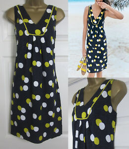 f8d943c3c94 NEW Boden £50 Tarifa Summer Dress Sun Beach Tunic Shift Navy Lime ...