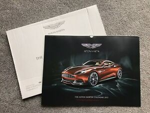 2013 Genuine Aston Martin High Quality Glossy Print Calendar Large Db9 Vantage Ebay