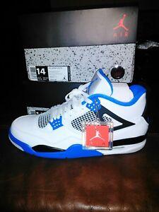 ddcd2692857e3a Nike Air Jordan 4 Retro Motorsports IV White Game Royal Blue SZ 14 ...