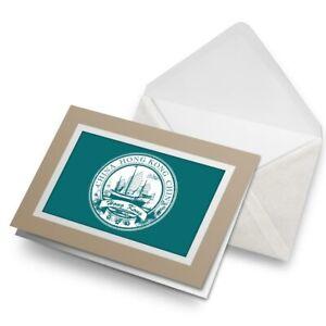 Greetings-Card-Biege-Hong-Kong-China-Travel-Stamp-5941
