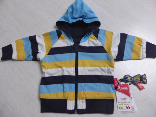 marine//blau//gelb//weiß geringelt von Sigikid NEU! Sweat-Jacke zum Wenden Jacke