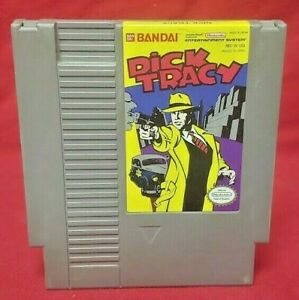 Dick-Tracy-Nintendo-NES-Game-Rare-Tested-Works-Authentic-Original