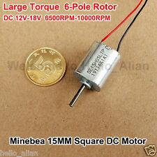 Dc12v18v 10000rpm Mini 15mm Square Motor 6 Pole Rotor Large Torque Nmb Dc Motor