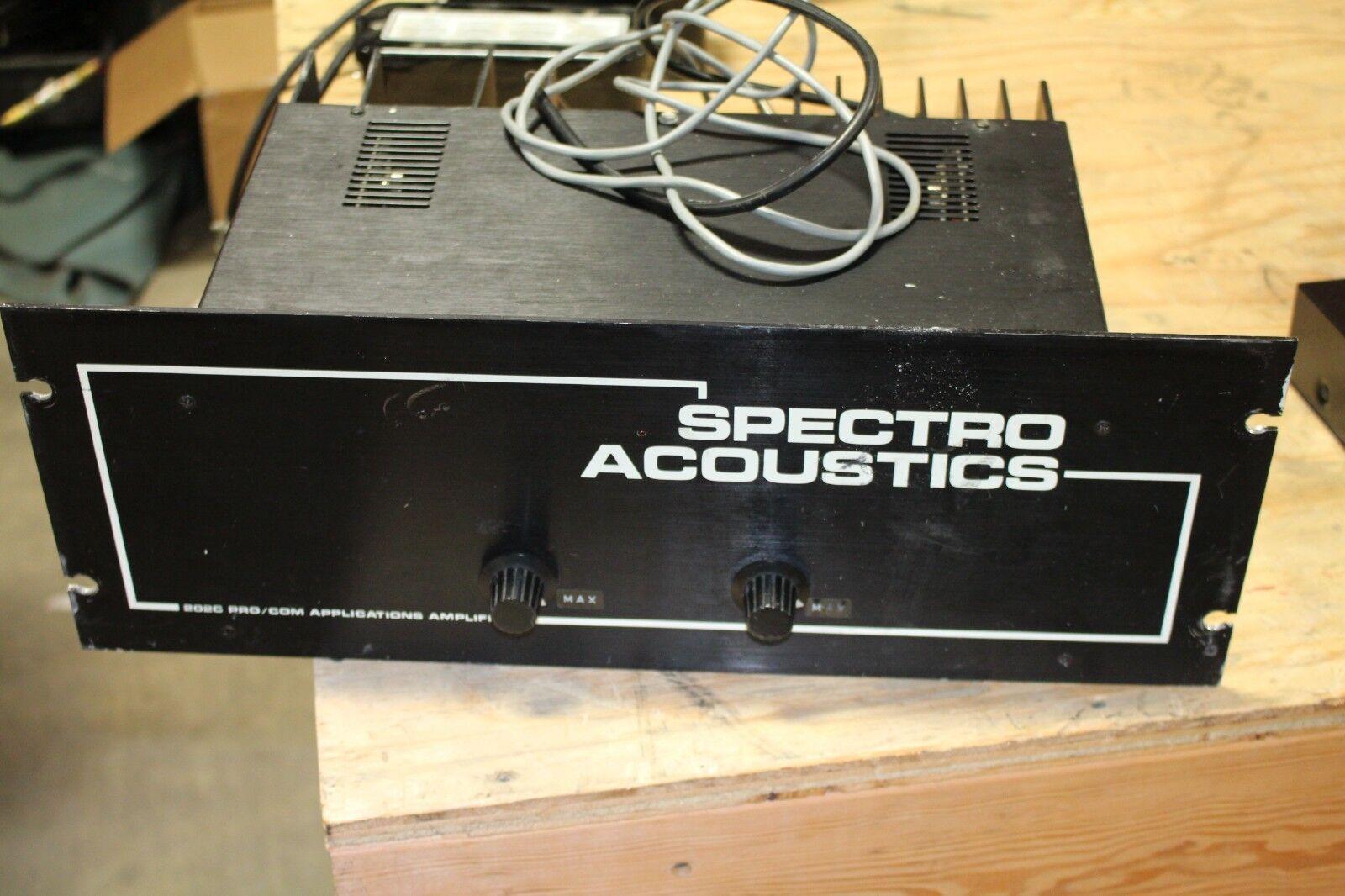 Spectro acústica 202C Pro Pro Pro Amplificador Com Applications  servicio honesto