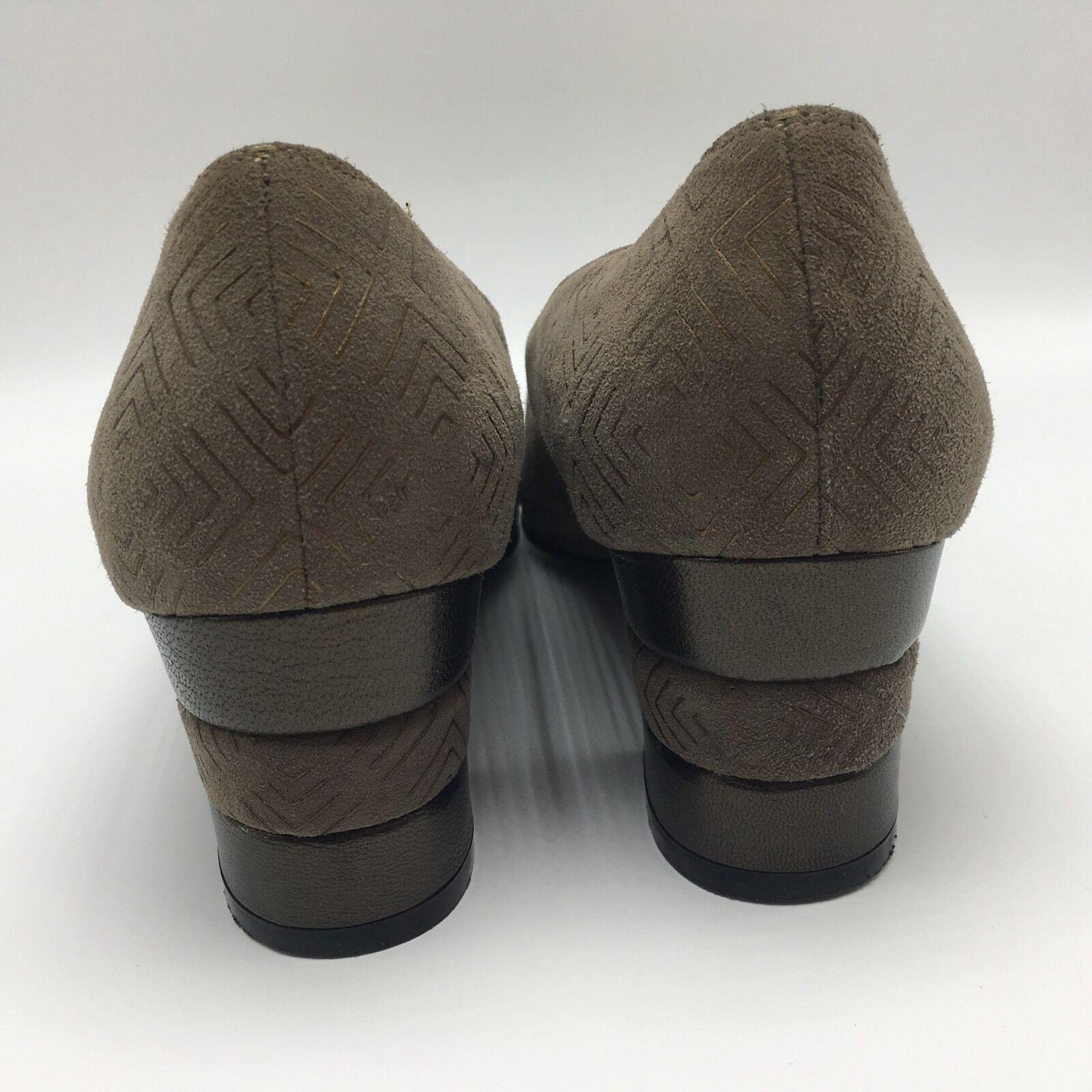 Salvatore Ferragamo  Suede Leder Light 6.5 Braun Bronze Classic Heels 6.5 Light B db517d