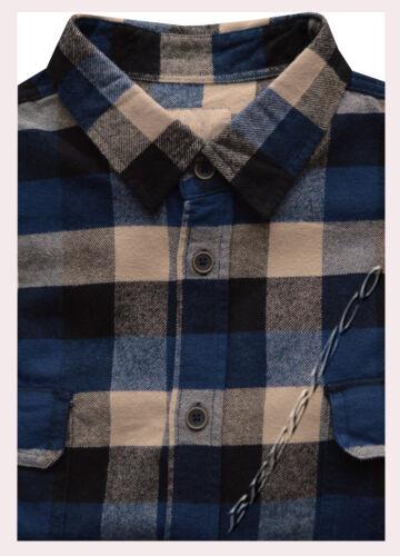 Nouveau Homme 100/% coton fil teint Flanelle Lumberjack Check Brossé Chemise M 2XL