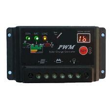 10A PWM Solar Charge Controller Regulator 12V/24V Auto Switch Solar Laderegler