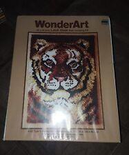 """WonderArt tiger latch hook kit #4153 new 18""""x24"""""""