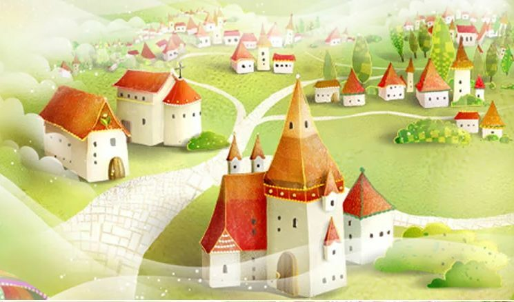 3D Cartoon Red House Wall Paper Wall Print Decal Wall Deco Indoor Wall Murals
