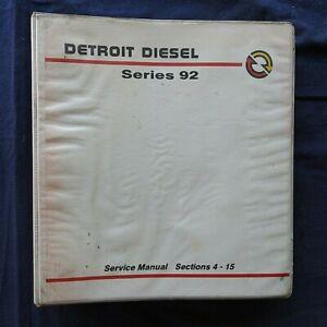 DETROIT DIESEL 92 SERIES ENGINE FUEL ELECTRICAL COOLING TUNE-UP REPAIR MANUAL