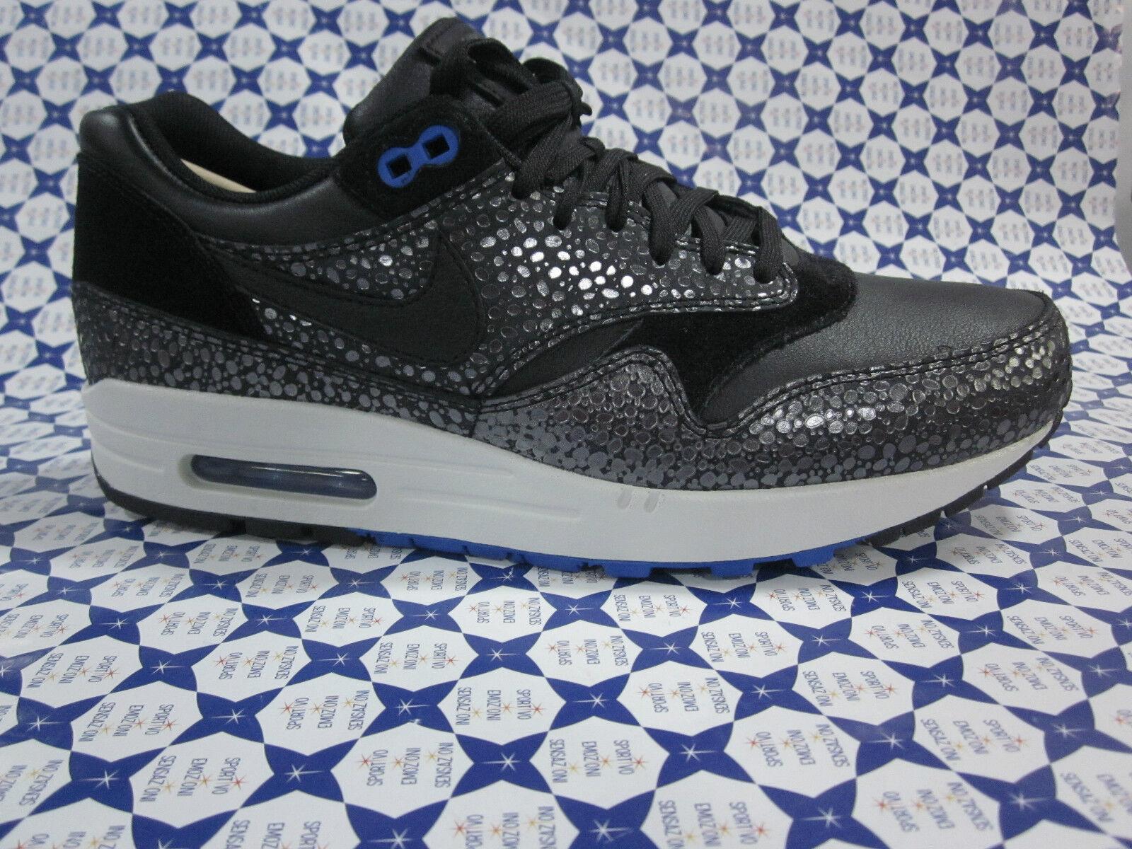 Cómodo y bien parecido Barato y cómodo Scarpa Nike Air Max 1 Deluxe - Nero - Argento 684708