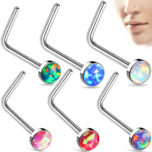 Nose-L-Bend-Ring-Stud-20g-2-5mm-Opal-Stone-Flat-Top-316-L-Surgical-Steel-Stud