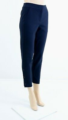 Karen Millen PY093 Women/'s Teal Tailored Smart Cropped Trousers UK SIZE 8,10 £95