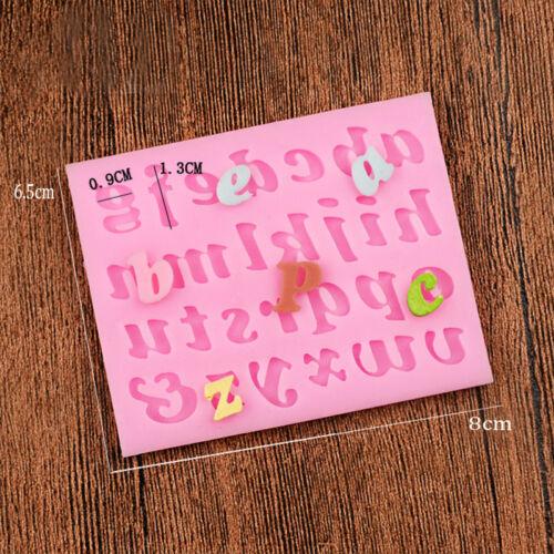 Letra del alfabeto número de Silicona de Fondant Sugarcraft Glaseado Moldes Decoraciones