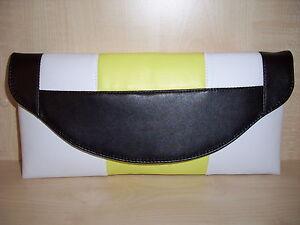blanco imitaci negro amarillo de y de color Clutch PXxpF