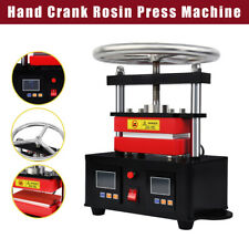 24x47 Hand Crank Rosin Press Machine Duel Heated Plates Heat Transfer 900w