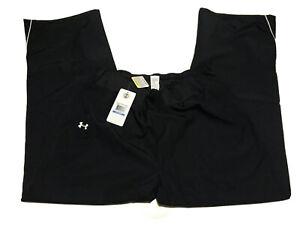 Under-Armour-AllSeason-Gear-Women-s-Black-Loose-Fit-Athletic-Pants-Sz-XL-New-NWT