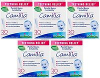 5 Pack Boiron Camilia Teething Relief, 30 Count Ea (0.034 Fl Oz Each) on Sale