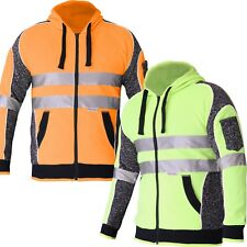 Hi Vis Hoodie Jumper 3M Reflective Fleece Zip AS/NZS 1906.4:2010 4602.1:2011