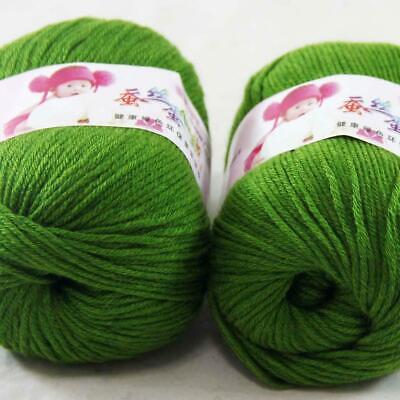 AIPYARN 2Balls x50g Soft Cashmere Silk Velvet Baby Hand Knitting Crochet Yarn 29