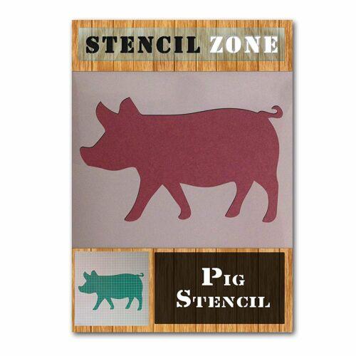 Pig Farm Animal Mylar Pintura Pared stencil Art Decoración del Hogar hágalo usted mismo Arte Manualidades A6...
