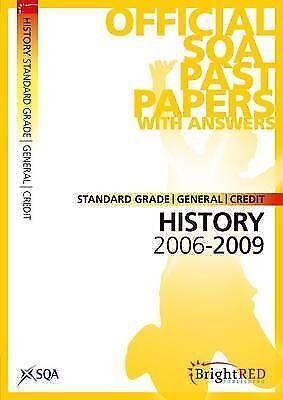 """AS NEW"" History Standard Grade (G/C) SQA Past Papers 2009, Scottish Qualificati"