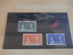 GEORGE-VI-1937-CORONATION-ST-HELENA-UN-MOUNTED-MINT