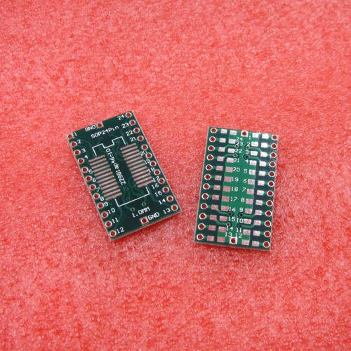 10PCS SSOP24 SOP24 to DIP 24Pin 2.54mm IC PCB Adapter Converter Pitch 1.0mm
