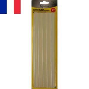 10X Bâtons de Colle Thermofusible Transparents 11x200mm pour Pistolet électrique