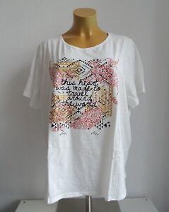 c0fc2113caf4 Das Bild wird geladen NEU-Ubergroesse-Damen-Kurzarm-Long-Shirt-in-offweiss-