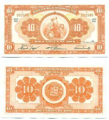500 Soles de Oro 1969 Peru aUNC /> Scarce P-104 104a