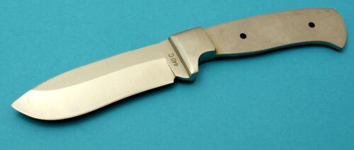 SR1 Messer Klinge Jagdmesser Rohling 440C Stahl mit Edelstahl Backen