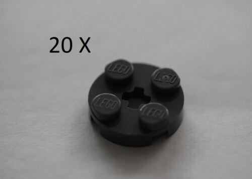 LEGO® Dark Bluish Gray Plate Round 2 x 2 with Axle Hole Part 4032