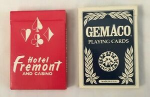 Lot-of-2-Playing-Cards-Hotel-Fremont-and-Casino-Las-Vegas-Red-and-Blue-Decks