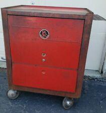 Vintage Cornwell Tool Box Mechanics Chest Cabinet Rolling