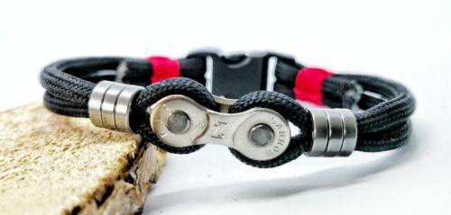 Paracord Armband Fahrradketten schwarz Länge 17-22cm erhältlich