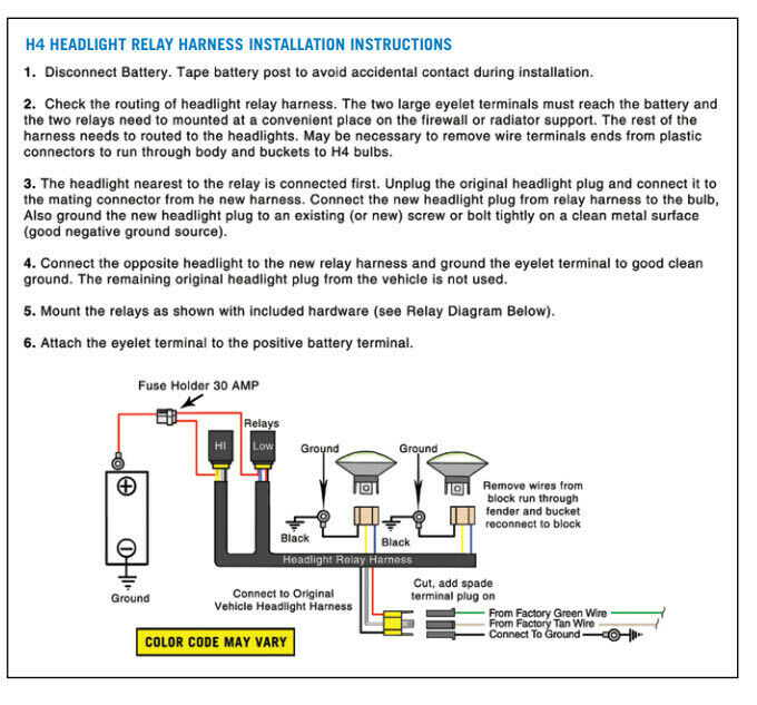 2-headlight H4 Headlamp Light Bulb Ceramic Socket Plugs Relay Wiring on ford 8n 12 volt wiring diagram, h4 wiring-diagram honda, 1993 dakota headlight switch diagram, 2004 dodge durango fuse box diagram, pontiac g6 parts diagram, h4 wiring with diode, 1990 toyota corolla head lamp diagram, h4 connector diagram, 1983 toyota corolla headlight diagram, hid conversion kit wiring diagram, h4 plug diagram, 1993 dodge pick up headlight diagram, xenon hid kit wiring diagram, 97 dakota tail light wiring diagram, toyota tacoma headlight switch diagram, dodge dakota headlamp assembly diagram,