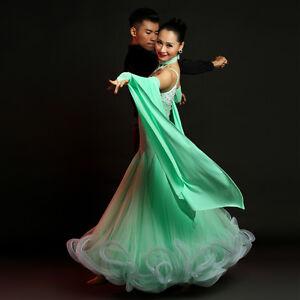 Ladies modern waltz tango latin ballroom competition dance dress s9001