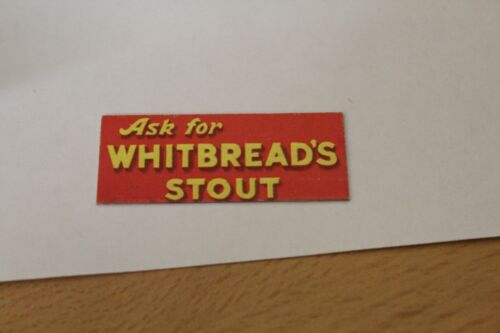 DOLLS HOUSE ( Metal Sign ( WHITBREAD'S STOUT