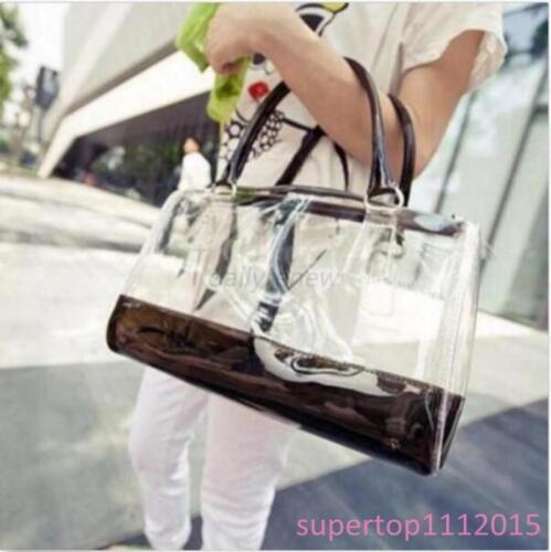 10 Colors Chic Women Sweet Handbag Girl/'s Transparent Beach Candy Shoulder Bags