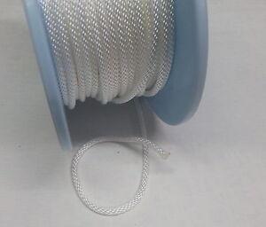 rolladen schnur kordel rolladenschnur seil gurt gurtband schnurwickler wei 4 mm ebay. Black Bedroom Furniture Sets. Home Design Ideas