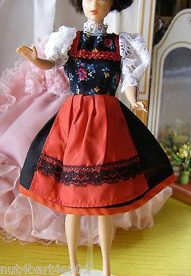 Vintage Original German MMM Dirndl Dress PRYM Snaps fits Lg Bild Lilli Barbie NM