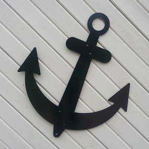 Image Is Loading Black Anchor Wall Decor Flat Metal 36 034